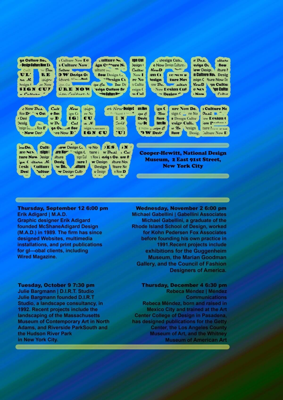 Design Culture Now af multimediedesigner Kevin Aghballe